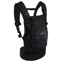 Porte bébé physiocarrier coton - tablier noir poche anthracite
