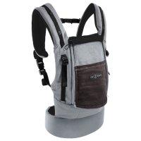 Porte bébé physiocarrier coton - tablier éléphant poche café noir