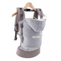 Porte bébé hoodiecarrier coton - gris athlétique