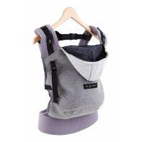 Porte bébé hoodiecarrier coton - gris flanelle