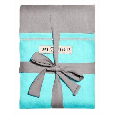 Echarpe de portage l'originale gris clair, turquoise Love radius