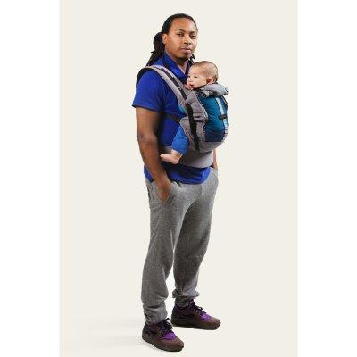 Porte bébé physiocarrier coton - tablier éléphant poche café noir Love radius