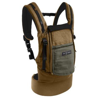 Porte bébé physiocarrier coton - tablier safari poche olive foncé Love radius
