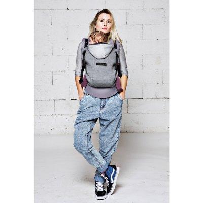 Porte bébé hoodiecarrier coton - gris flanelle Love radius
