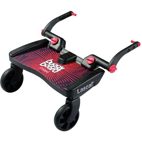 Planche à roulette pour poussette buggyboard maxi noir/rouge Lascal