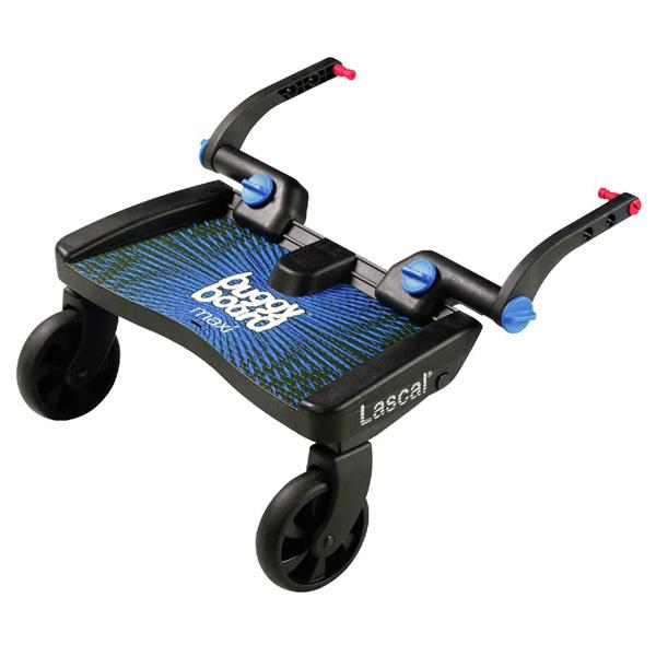 Planche à roulette pour poussette buggyboard maxi noir/bleu Lascal
