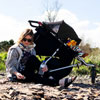 Poussette double plus one incluant le second siège noir Mountain buggy