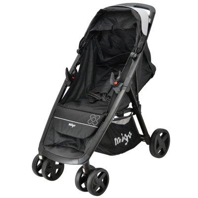 Pack poussette duo clark beone noir avec base , sac à langer et porte bébé Migo