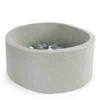 Piscine à balle ronde gris 90 x 40 cm transparent pearl silver