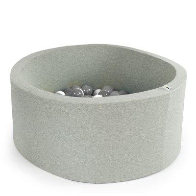Piscine à balle ronde gris 90 x 40 cm transparent pearl silver Misioo