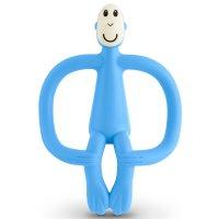 Anneau de dentition singe matchstick monkey bleu clair