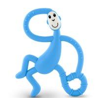 Anneau de dentition singe large matchstick monkey bleu ciel