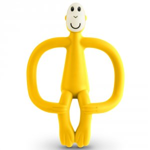 Anneau de dentition singe matchstick monkey jaune