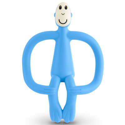 Anneau de dentition singe matchstick monkey bleu clair Matchstick monkey