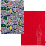 Couverture bébé reversible buggy blanket scarlet/london pas cher