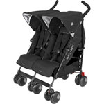Poussette double twin techno black pas cher