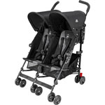 Poussette double twin triumph black charcoal pas cher
