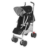 Poussette canne techno xt black silver