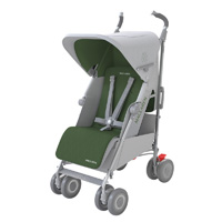 Poussette canne techno xrl silver highland green