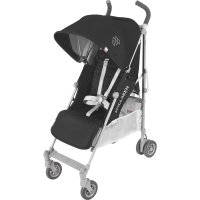 Poussette canne quest black silver