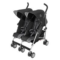 Poussette double twin triumph black charcoal