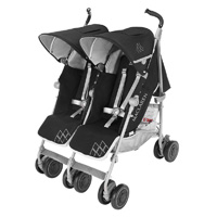 Poussette double twin techno black