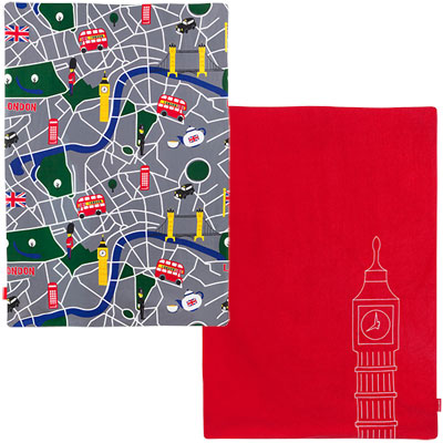 Maclaren Couverture bébé reversible buggy blanket scarlet/london