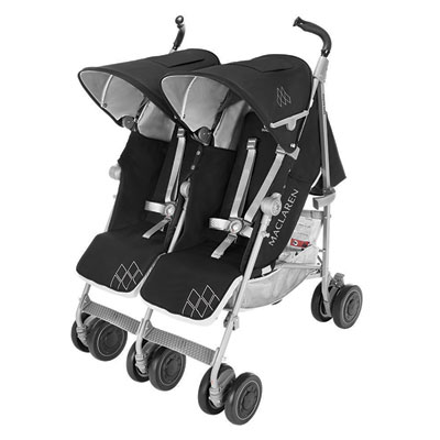 Poussette double twin techno black Maclaren