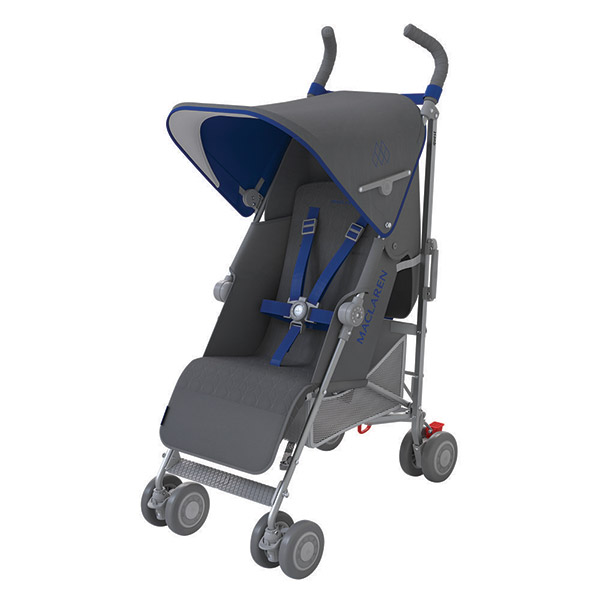 Poussette canne quest charcoal harbour blue Maclaren