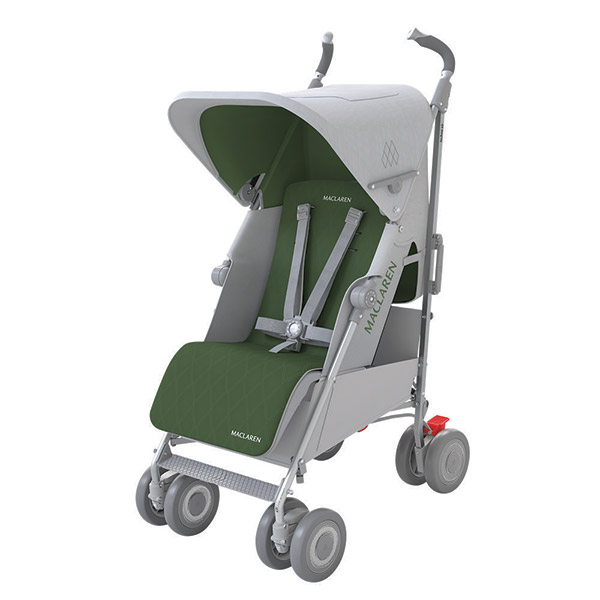 Poussette canne techno xrl silver highland green Maclaren