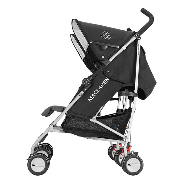 Poussette double twin triumph black charcoal Maclaren