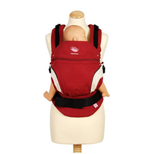 Porte bébé ventral / kangourou manduca rouge