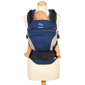 Porte bébé ventral / kangourou manduca bleu marine