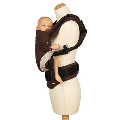 Porte bébé ventral manduca chocolat Manduca