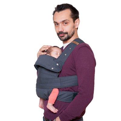 Porte bébé marsupi gris taille l Manduca