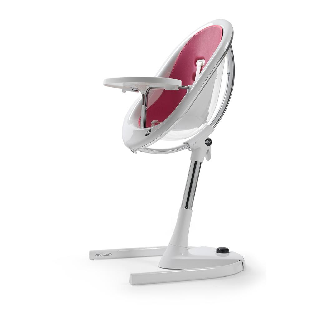 Assise b b pour la chaise haute moon fuchsia de mima chez for Assise pour chaise haute