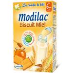 Modilac céréales biscuit miel 300 g dès 6 mois pas cher