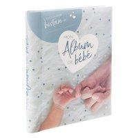 Livre naissance mon album de bébé 100 pages bleu