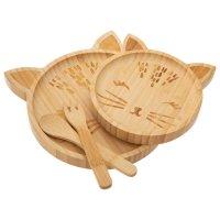 Coffret repas bambou chat (4 pièces)