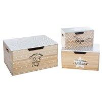 Lot de 3 boîtes de rangement en bois