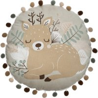 Coussin rond biche