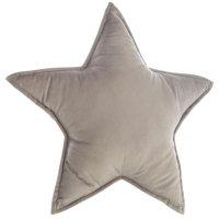 Coussin étoile gris