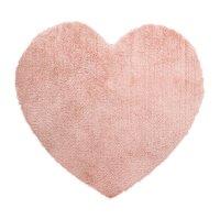 Tapis de chambre coeur rose