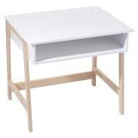 Bureau bois et blanc