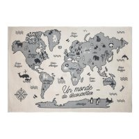 Tapis de chambre carte de monde 100x150xm