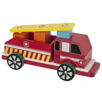 Jouet en bois camion de pompier