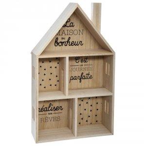 Etagère forme maison bois
