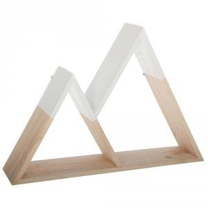 Etagère forme montagne bois