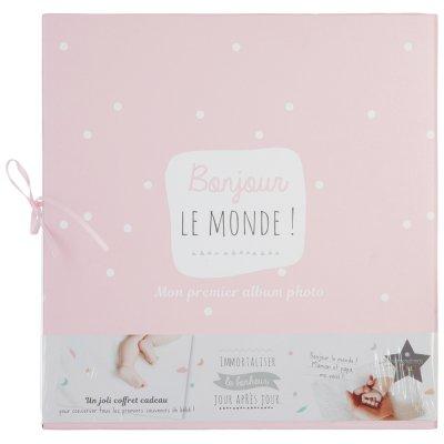Coffret album naissance avec 4 tiroirs rose Atmosphera for kids