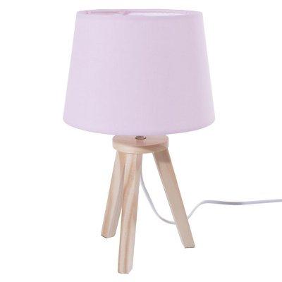 Lampe de chevet 3 pieds rose et bois Atmosphera for kids